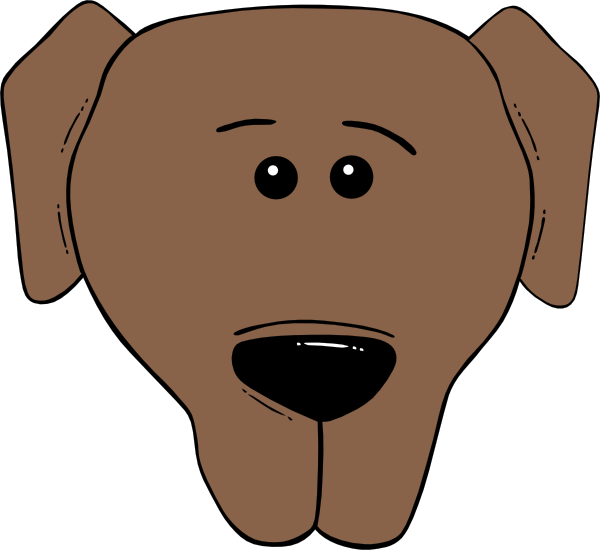 Dog Face Cartoon World Label clip art - vector clip art online ...