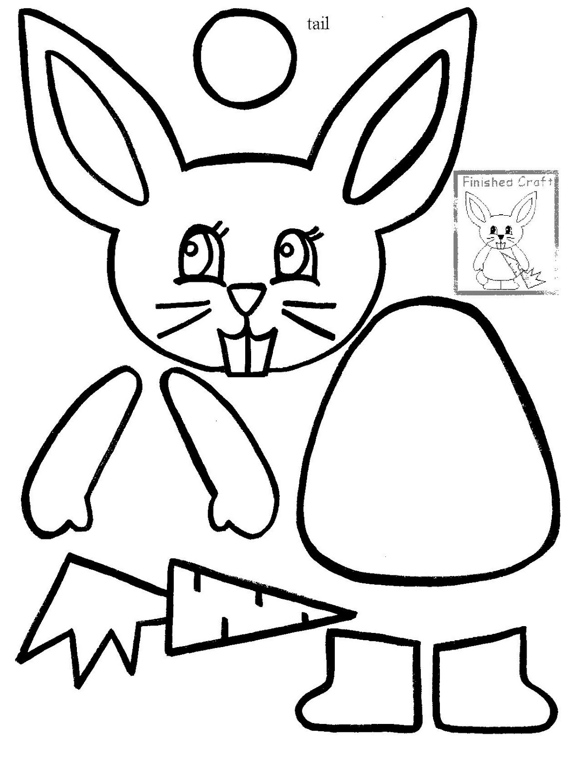 Free coloring pages of rabbit face