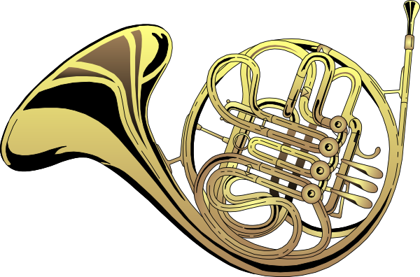 French Horn 4 clip art - vector clip art online, royalty free ...
