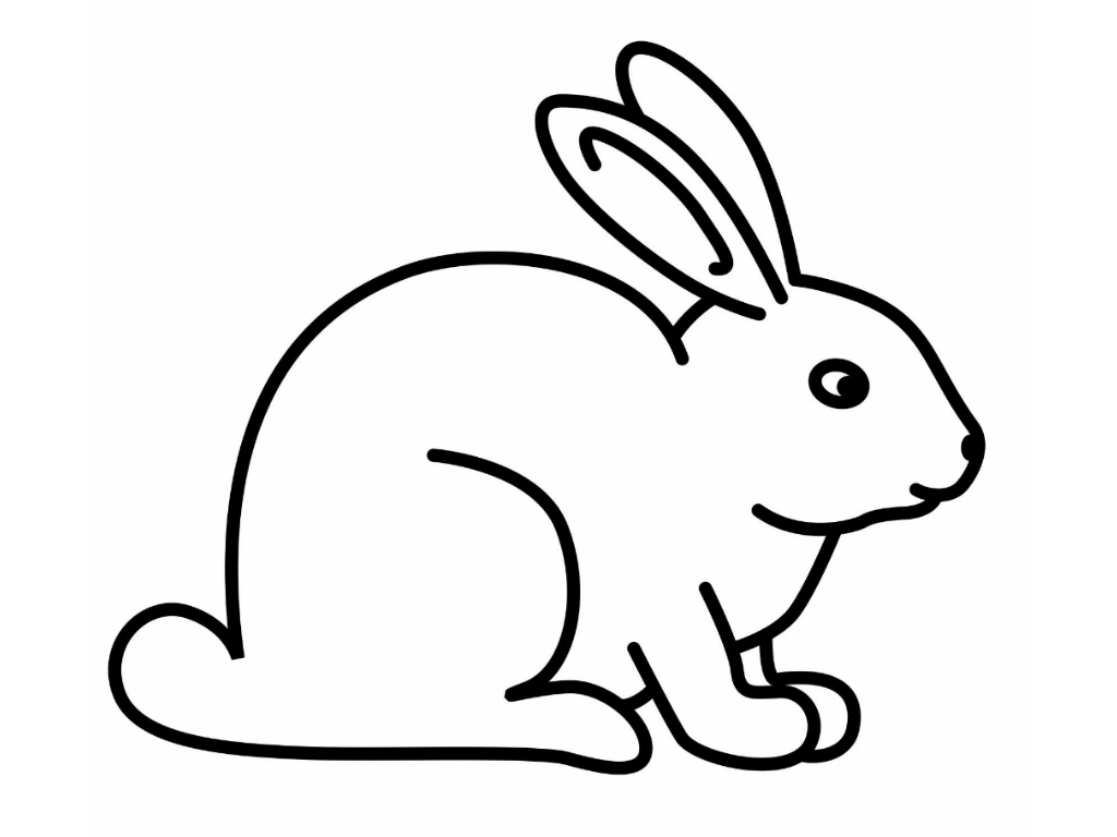 Easter Bunny Line Drawing : Rabbit line drawing clipart best
