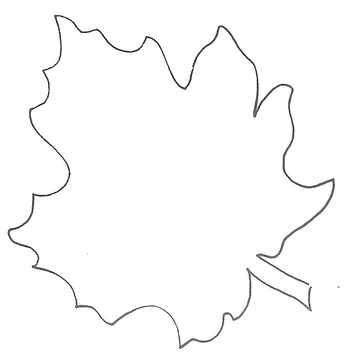 leaf template free clipart best. Black Bedroom Furniture Sets. Home Design Ideas