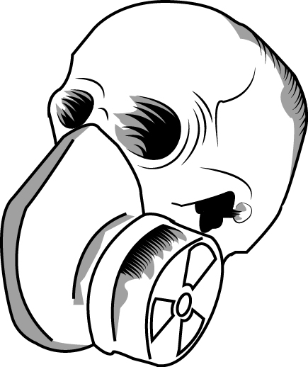 Skull Gas Mask Drawings Skull With Gas Mask Clipart