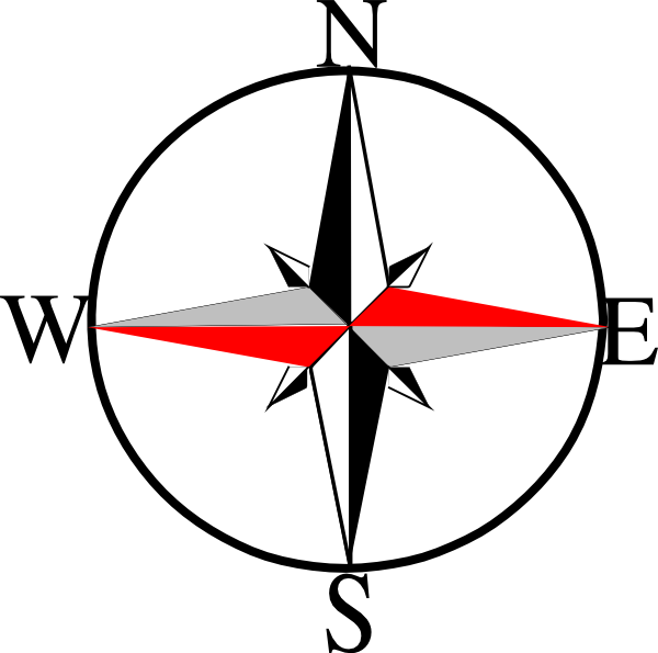 Compass North South East West - ClipArt Best