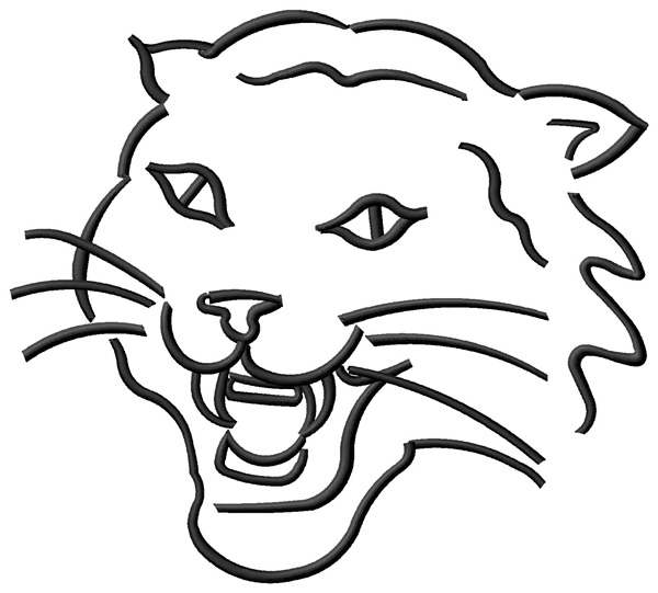 Animals Embroidery Design: Wildcat Outline from Grand Slam Designs