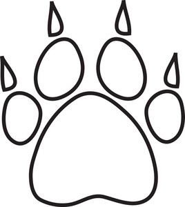 Dog Paw Print Template - ClipArt Best