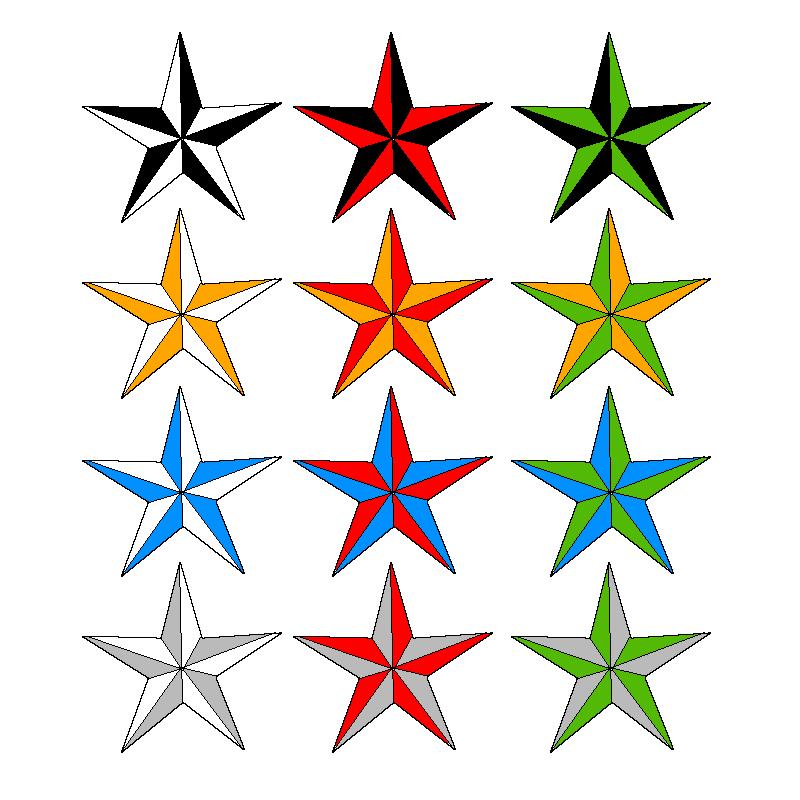Nautical star borders