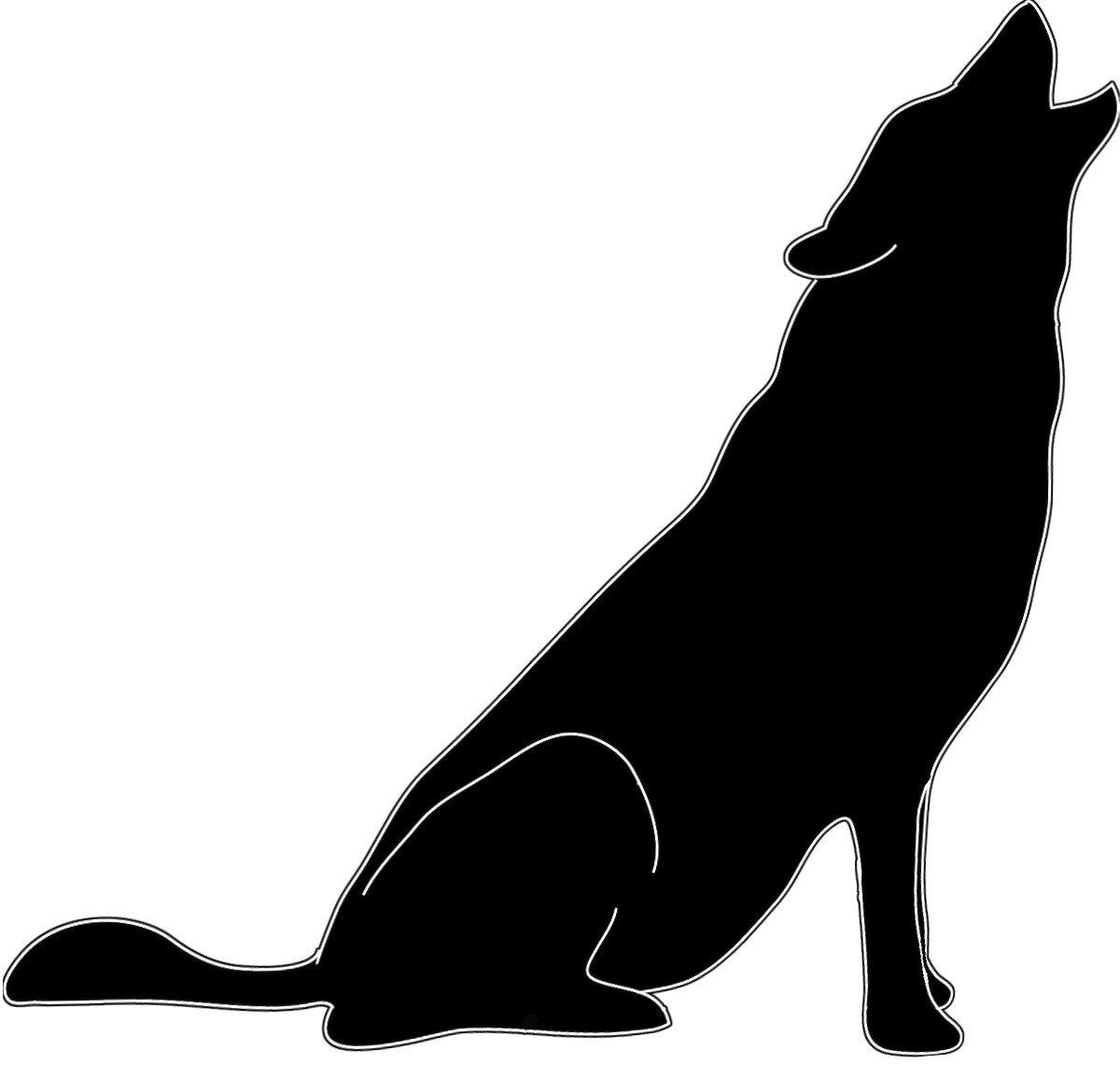 Wolf Silhouette - ClipArt Best