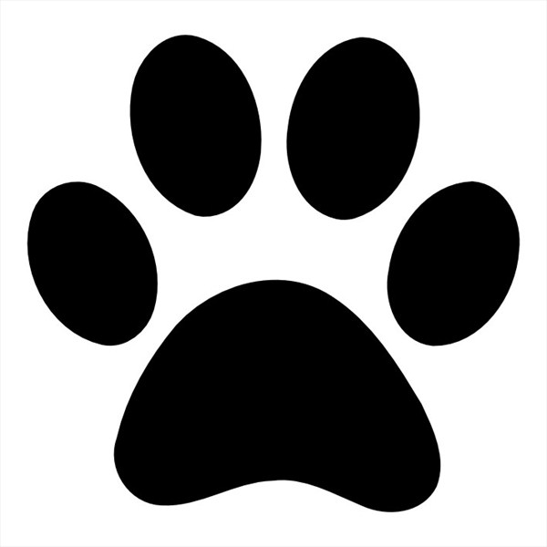 Dynamic image throughout dog paw print stencil printable free