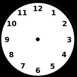 Vector Clock Face - ClipArt Best