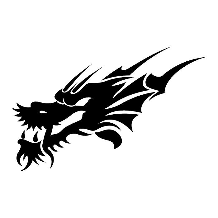 Dragon Head Tribal Tattoo - ClipArt Best