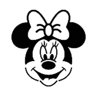 Clean image in minnie mouse stencil printable