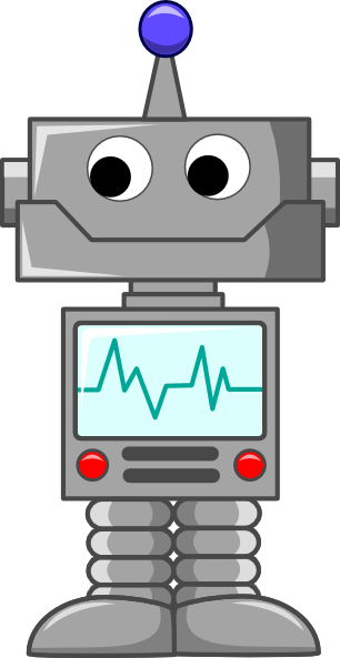 animated robot clipart - photo #19