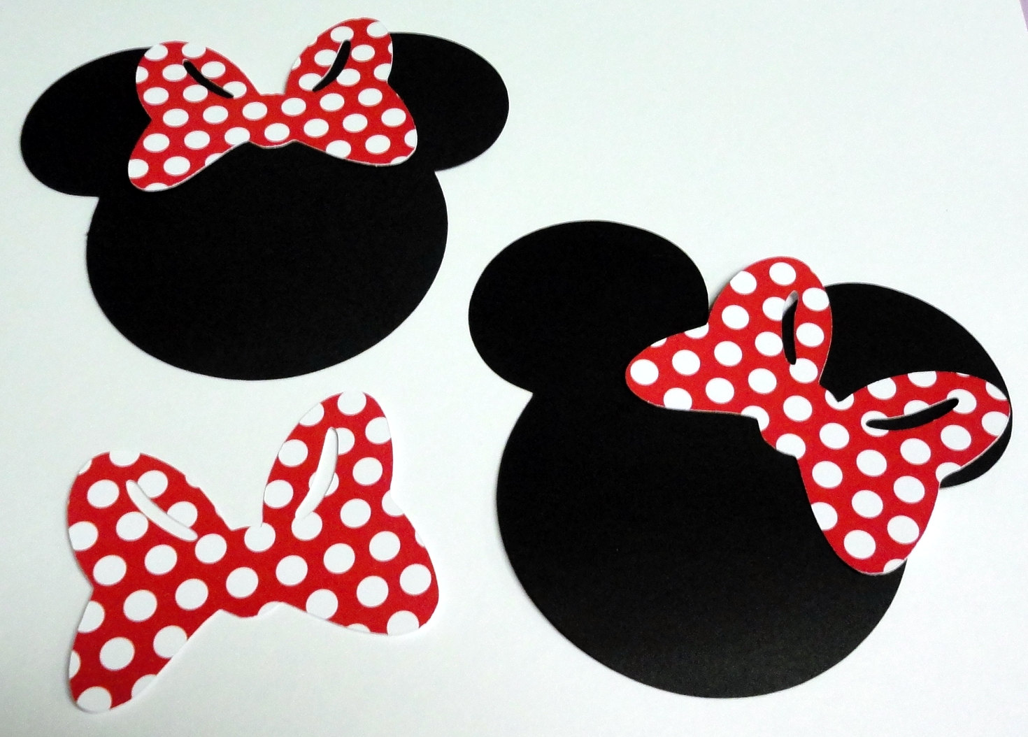 Minnie Mouse Face Outline With Bow - ClipArt Best ...