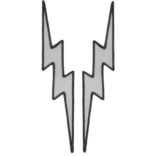 White And Black Lightning Bolt - ClipArt Best
