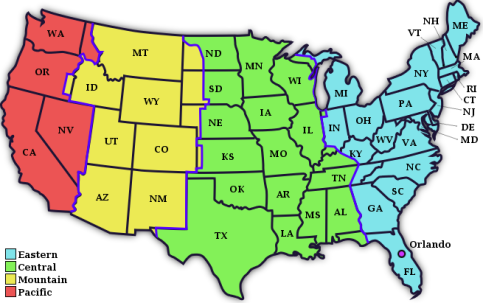 MAP OF USA TIME ZONES | World Map Of Images