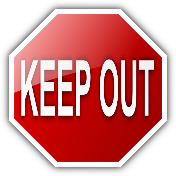 keep out sign clip art vector clip art online royalty free
