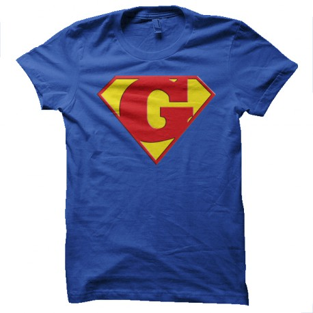 Superman logo with a royal blue G