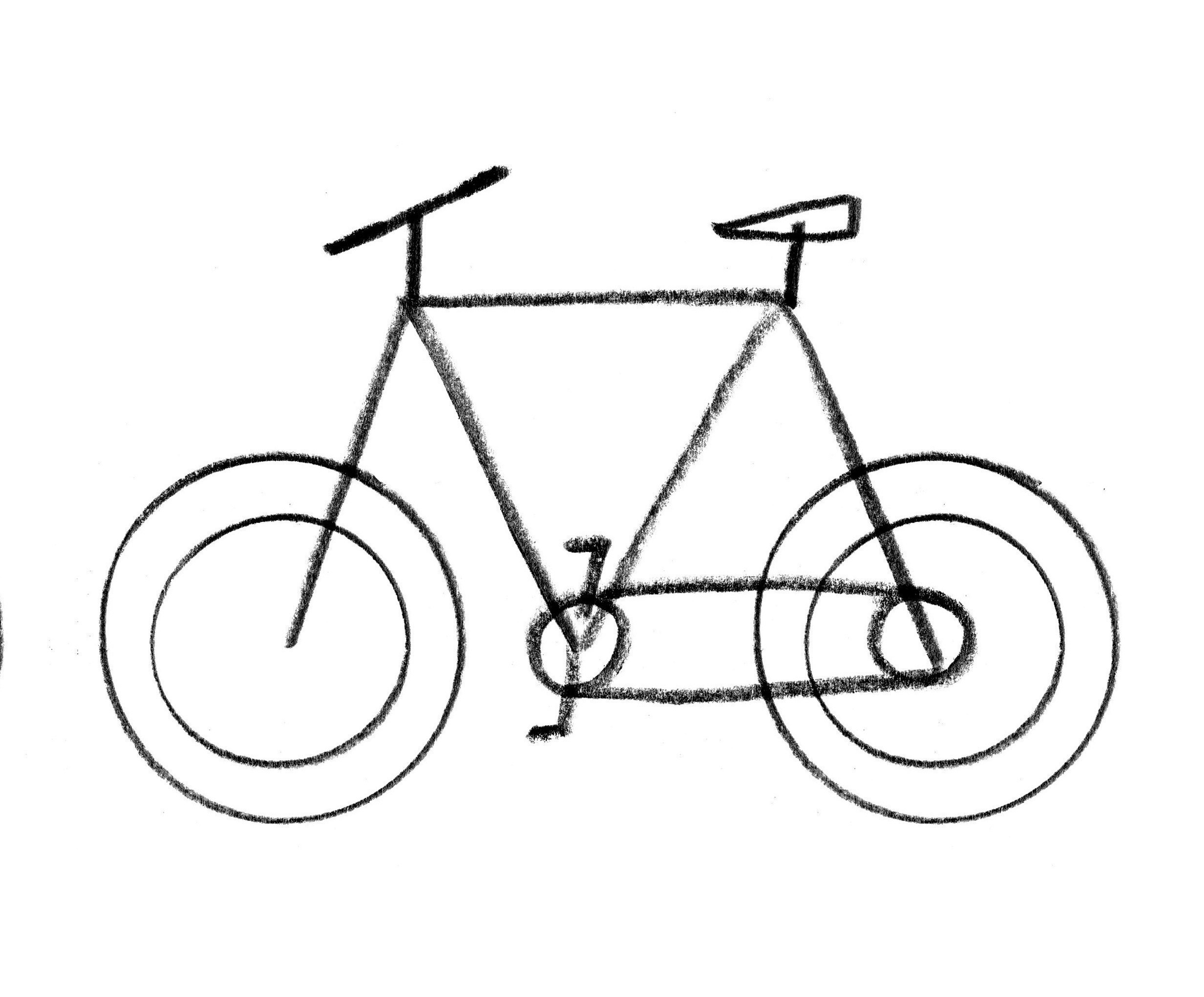 Line Art Extractor : Bicycle parts drawing clipart best