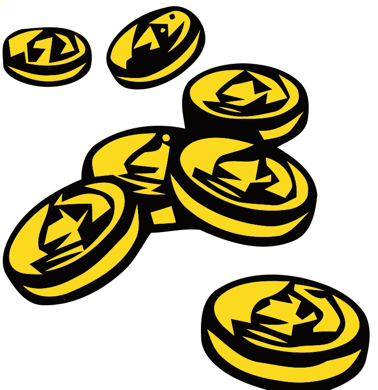 gold coins clipart clipart best