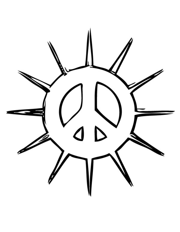 printable peace sign coloring pages - free printable peace signs clipart best