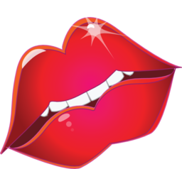 Red Lips Kiss Smiley Emoticon Clipart Royalty Free ... - ClipArt Best ...