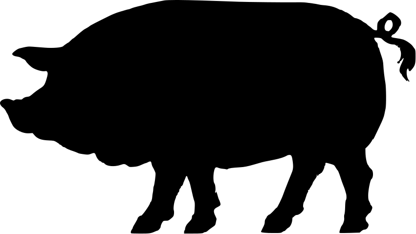 22 pig silhouette free cliparts that you can download to you computer ...