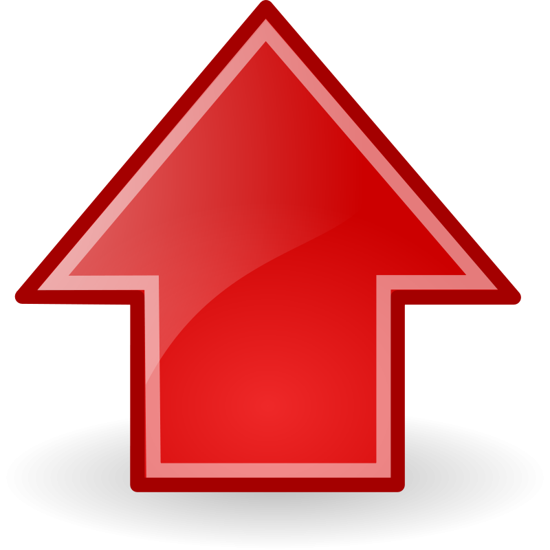 Red Up Arrow - ClipArt Best