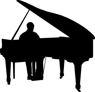 Piano Silhouette Clipart Best