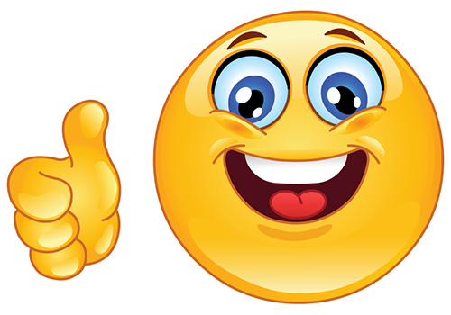 Facebook thumbs l'image smiley