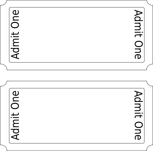 Admit one ticket template clipart best for Editable ticket template free