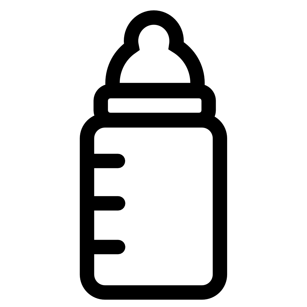 Baby Bottle Icon Black White Line Art Coloring Book ...