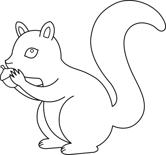 Squirrel Outline - ClipArt Best