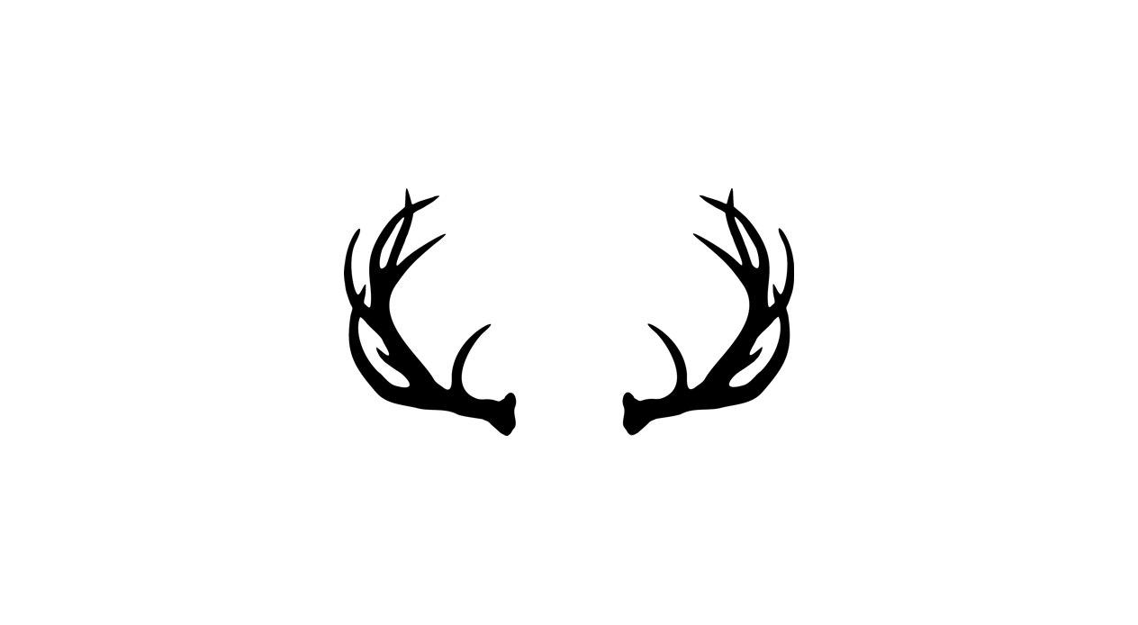 Whitetail deer antler logo
