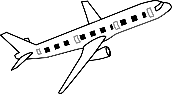 Airplane Clipart Black And White - Free Clipart Images