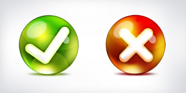 Yes no icons psd PSD file | Free Download