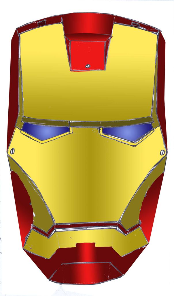 Ironman template clipart best for Iron man face mask template