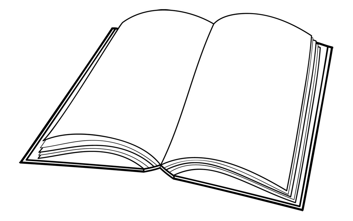 open book coloring pages clipart best