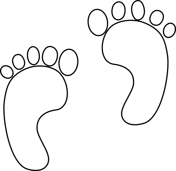 footprint cut out template printable footprints clipart best