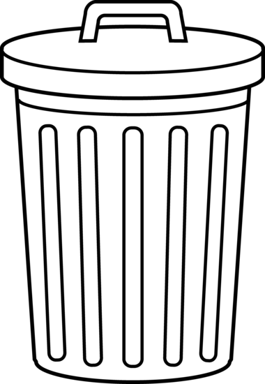 Garbage can clip art black and white