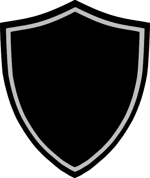 Black Shield Logo Shield Png 3d Black