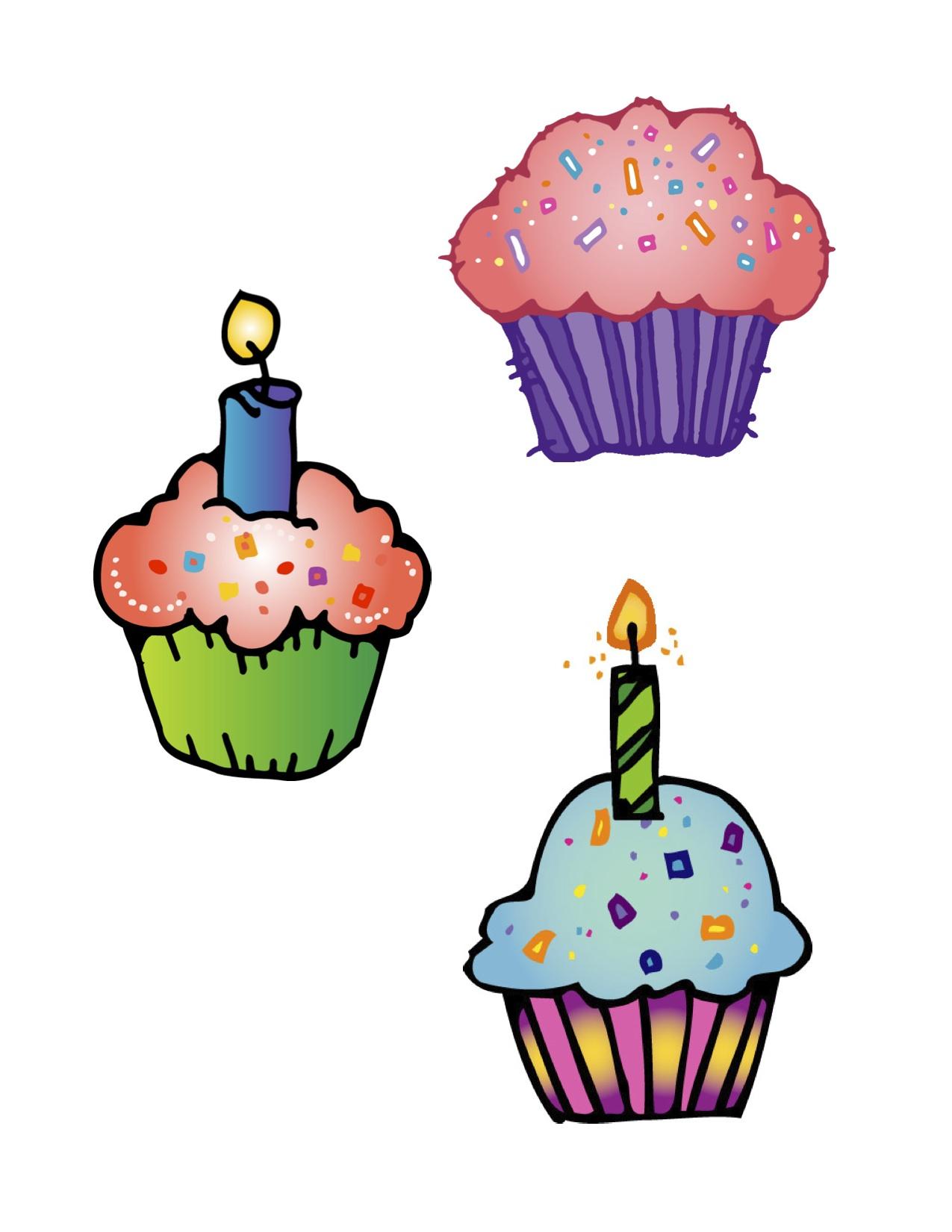 Cupcake Clipart Cute Cute Birthday Cupcake Clip Art