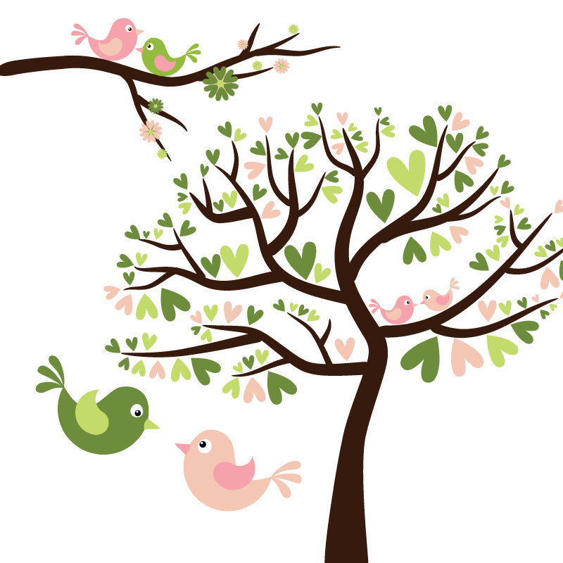 tree with birds clipart - photo #13