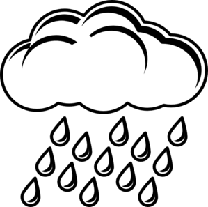 Cloud With Rain Outline clip art - vector clip art online, royalty ...