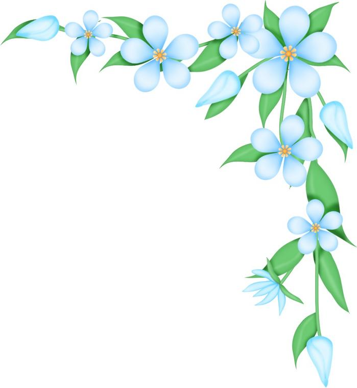 Line Art Flower Corner : Flower corner borders clipart best