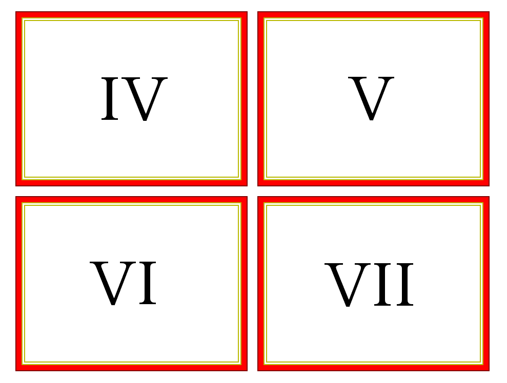 It's just a graphic of Clean Roman Numerals Printable