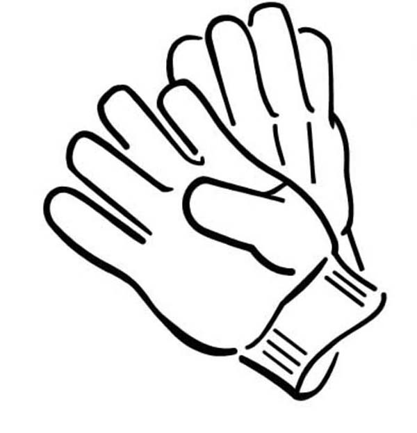 glove coloring pages - photo#6
