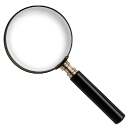 Old 3D Magnifying Glass Icon, PNG ClipArt Image | IconBug.com