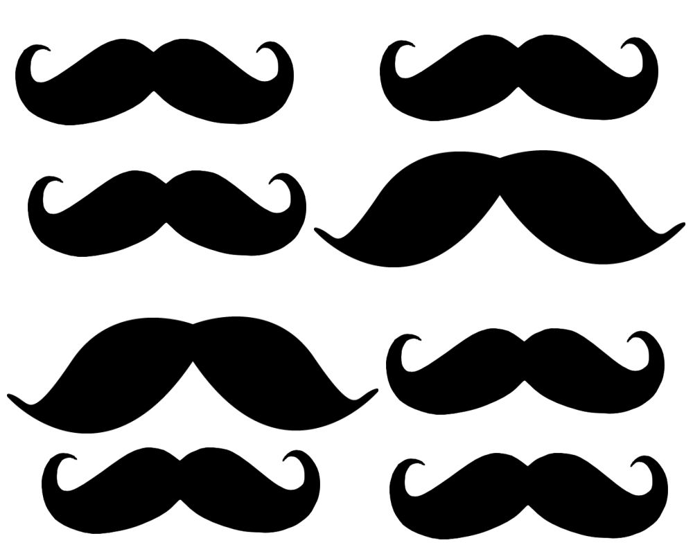 mustache print out template - mustache cut out clipart best
