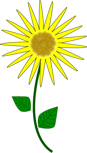 Sunflower Cartoon clip art - vector clip art online, royalty free ...