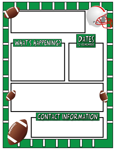 Football border template